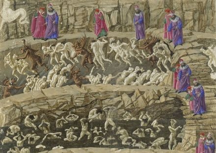 Botticelli, Sandro: Inferno, Canto XVIII. Fine Art Print/Poster. Sizes: A4/A3/A2/A1 (001893)